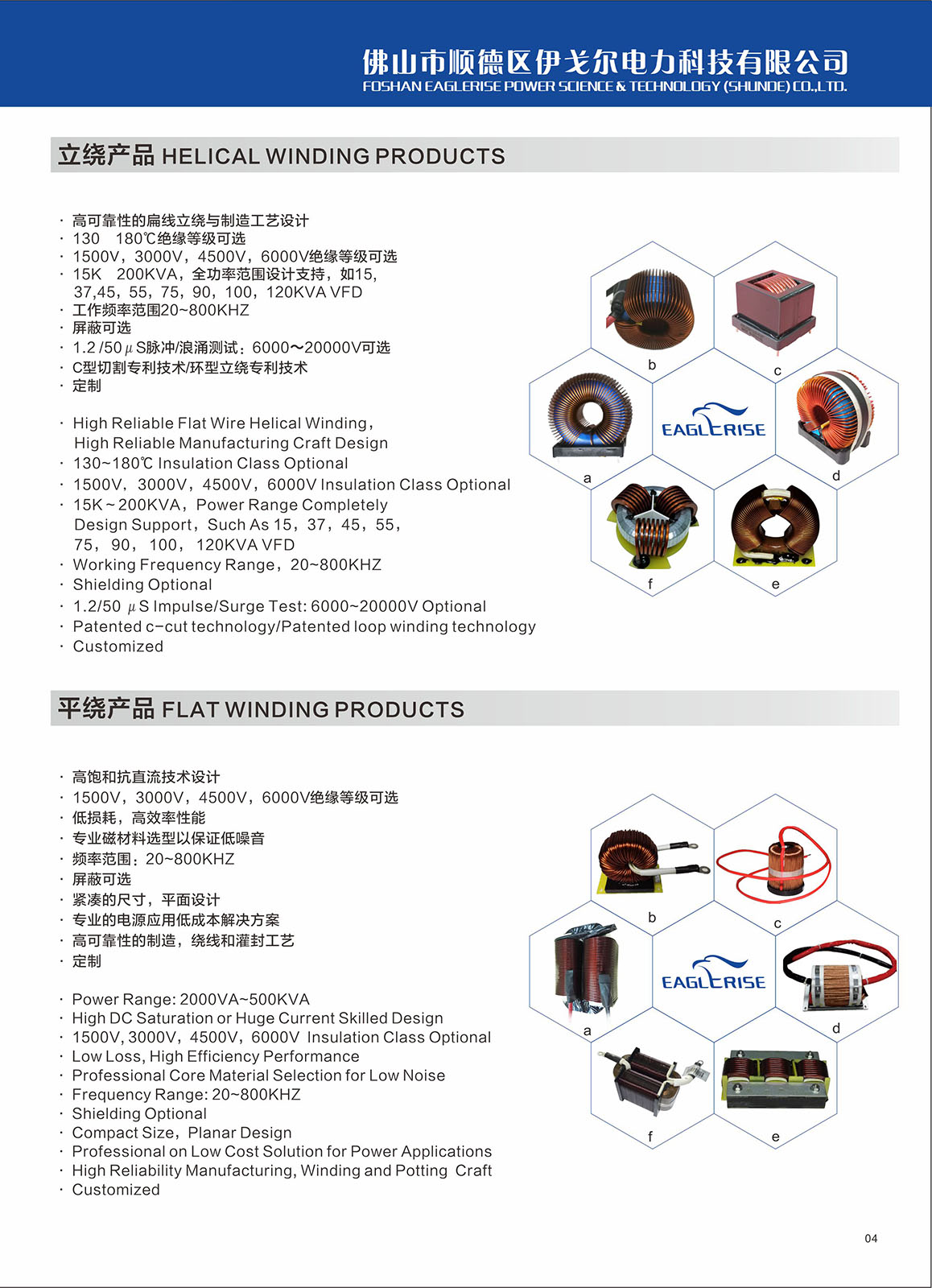 Various High Power Inductors For PFC、BOOST/INV 、 REC